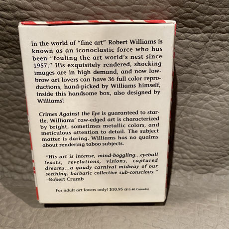 "1991  Robt. Williams Complete Cards Set  ""Crimes Against The Eye"""