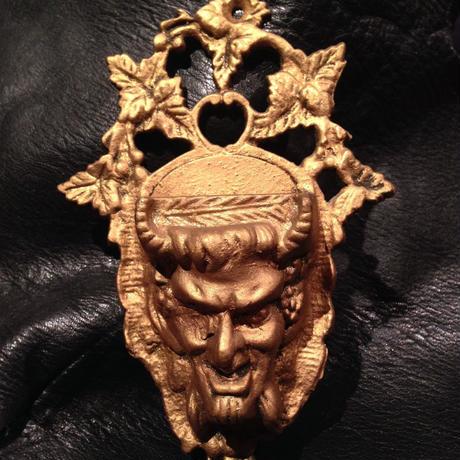 Vintage  Metal  Satan  Match  holder