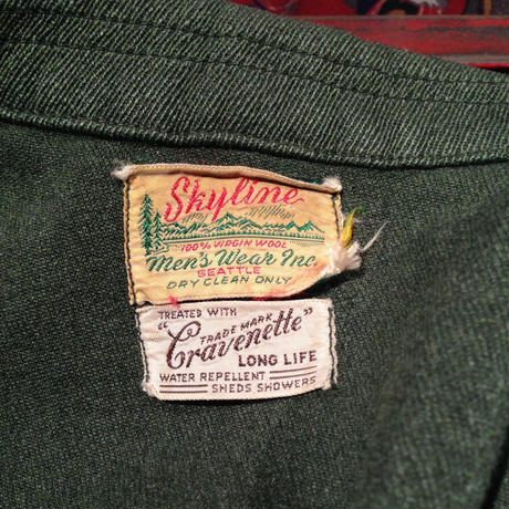 Vintage  Skyline  100%  wool  Work  Jacket