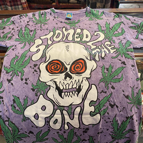 Vintage  Skull  Bone Tie dye T shirt