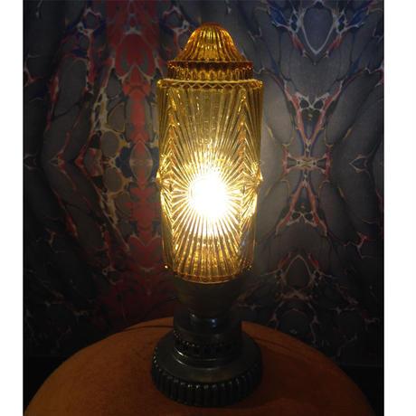 Art  Deco  Amber  Table  Lamp