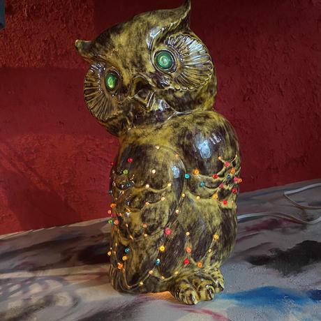 Vintage Ceramic OWL  Lamp