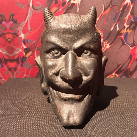 Vintage Two-Faced  Devil  Iron  Coin  Bank