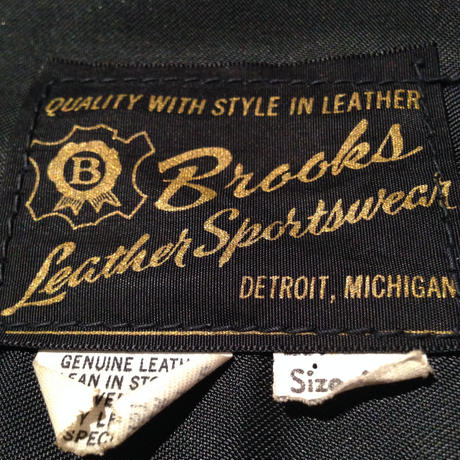 Vintage  Brooks  Leather  Jacket