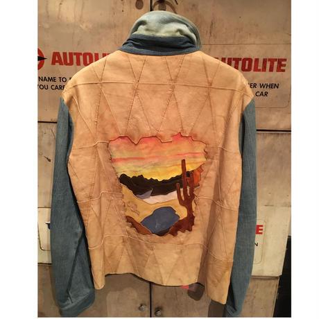 【Antonio  Giuseppe】  Vintage Western  Denim×Leather  Jacket