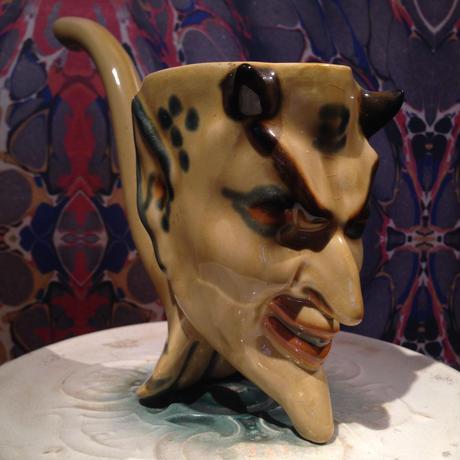 Vintage Soviet Devil  Pottery  Ashtray