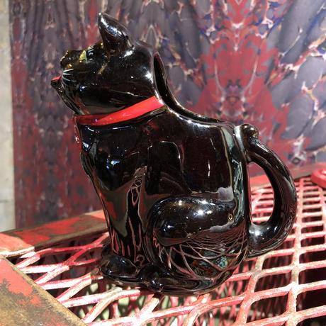 Vintage Shafford Black Cat  Creamer Pitcher