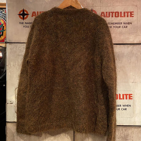 Vintage Brown Mohair  Cardigan
