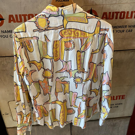 Vintage  Colourful  Western Boots  Shirt