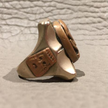 Vintage  Mexican  Skull & Crossbones  Ring