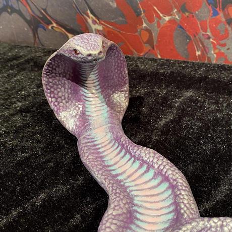 King Cobra Ceramic Incense Burner    【Light purple】