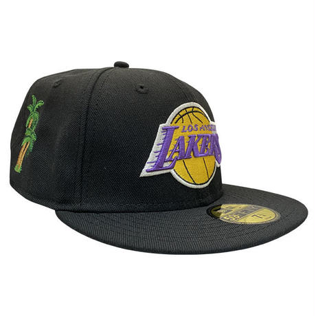 "NEW ERA 59FIFTY LOS ANGELES LAKERS BLACK ""THE ANGELS"" FITTED CAP"