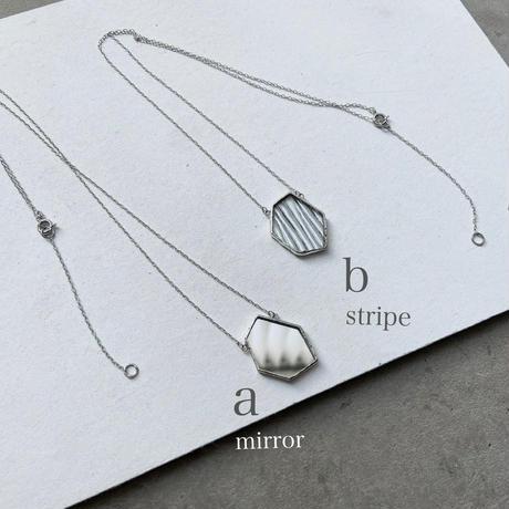 TRESOR NECKLACE / mirror・stripe | 50cm +5cm
