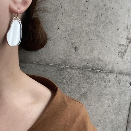 ハクガラス・ビーンシェイプピアスイヤリング//HAKU GLASS BEAN SHAPE PIERCE & EARRINGS ※金具選べます