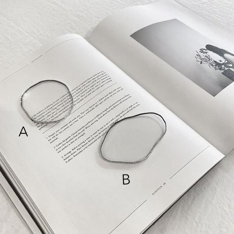 【即納】水たまりのような形をした豆皿コースターSS / GLASS COASTER / CLEAR