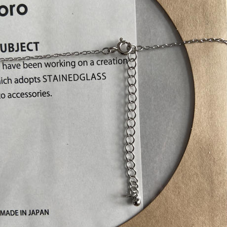 DROP NECKLACE / clear / チェーン50cm+5