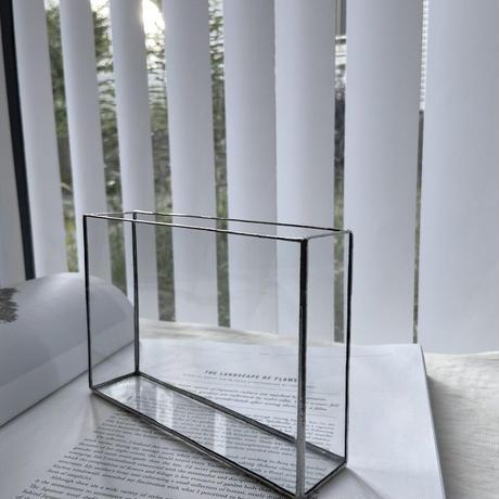 ハクガラス器・フラワーベース/ 長方形(横長)HAKU GRASS・FLOWER VASE