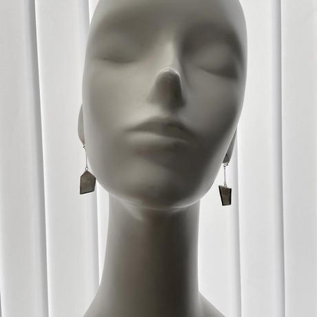 KAKERA HANGING PIERCE /EARRING 50|イヤリングピアス |ダークグレー ●金具選べます