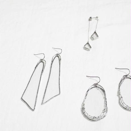 【doro】WING PIERCE & EARRINGS | CLEAR・BLUE ※金具選択可