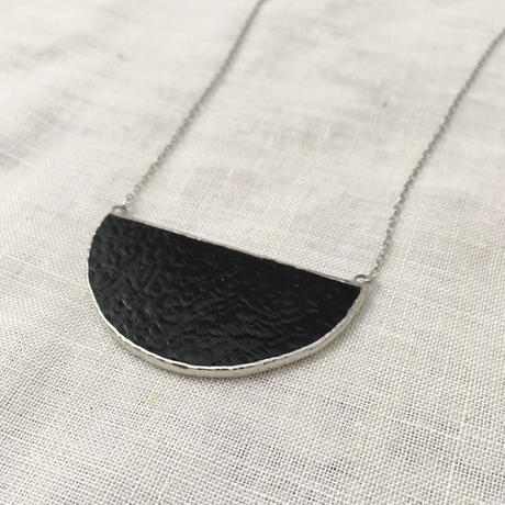 Semi circle Necklace -  Black