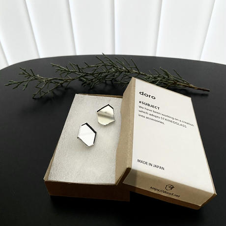 HAKUガラス・ミラーKAKERA PIERCE EARRING | イヤリングピアス