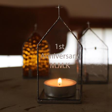 【長文オリジナル文字彫刻】Church Candle Holder 単品
