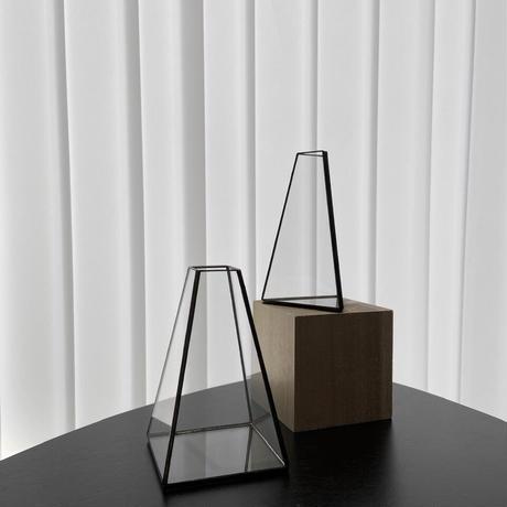 ハクガラス・ガラス器 / フラワーベース / 台形立体 S //HAKU GLASS ・FLOWER VASE  小さなフラワーベース
