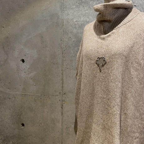 ELEPHANT NECKLACE / 象モチーフネックレス・気泡ガラス