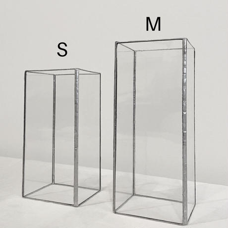 ハクガラス器/ M / SILVER・BLACK//HAKU GLASS CONTAINER