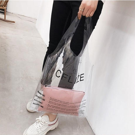 【To U DEPARTMENT】PVC BAG 4 COLORS