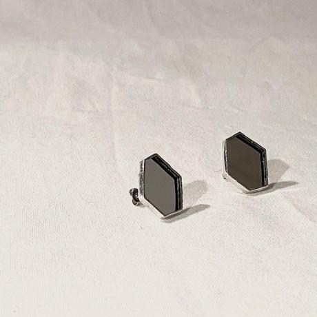 ミラーガラスの欠片ピアスイヤリング//KAKERA PIERCE EARRING 2 | mirror