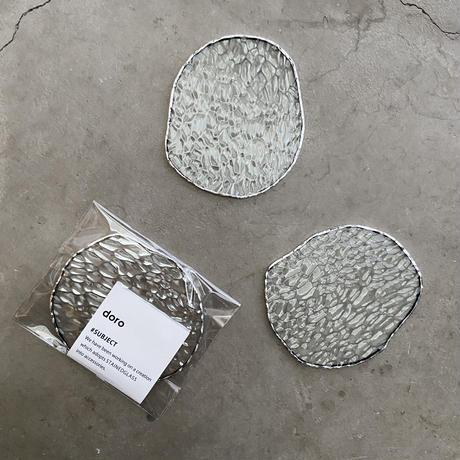 【4/20再入荷】水たまりのような形をした豆皿コースター【S】モザイク凹凸ガラス