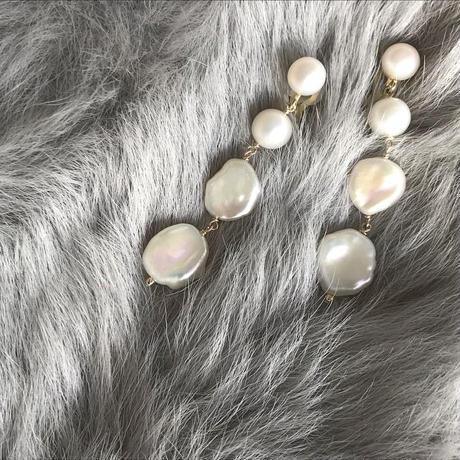 Freshwater Pearl  pierce  earring