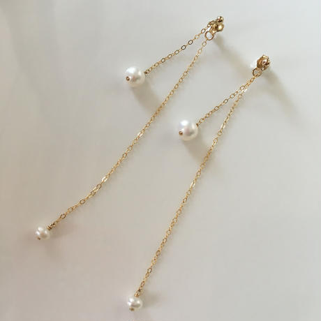 14kgf  freshwater pearl  long  chain  pierce