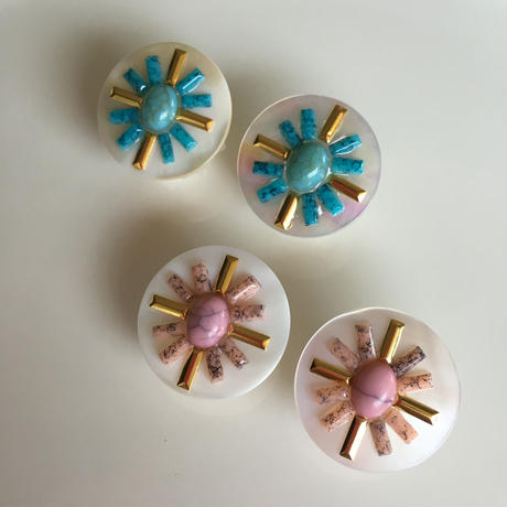 Turquoise  shell  pierce  earring