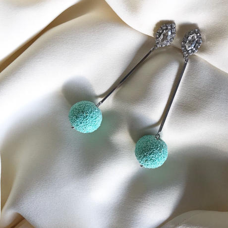 mint  green  pierce  earring