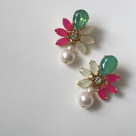 tropical collar pierce earring