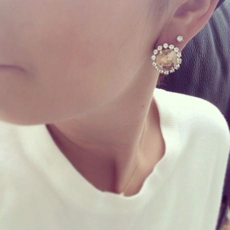 Cottonpearl Catch Pierced earring gold