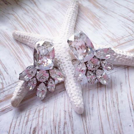 Crystal Swarovski pierced earring