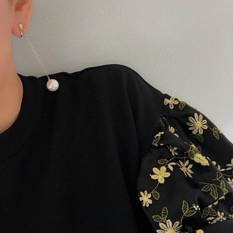 Imitation  pearl  pierce  earring