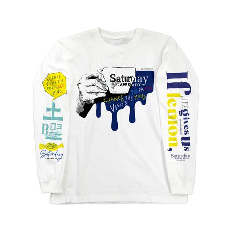 《限定》Saturday full design ロングスリーブTシャツ