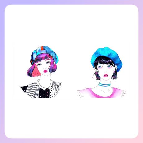 【ベレー帽ちゃん】のポストカードセット