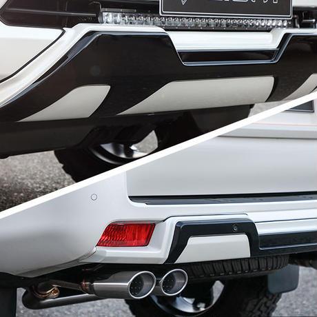 ランドクルーザープラド 150 後期 フロント/リアバンパースキッドセット 単色塗装済み ダブルエイト