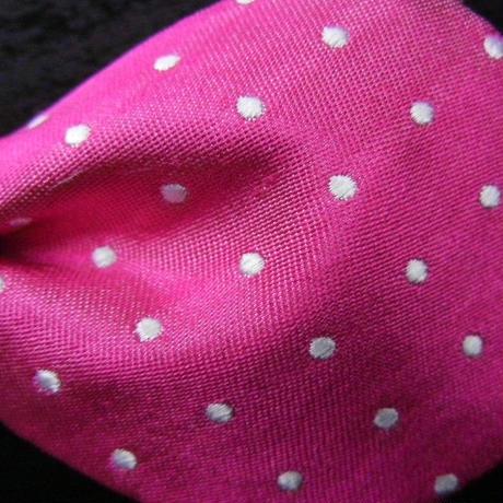 3P Silk Satin Dots Butterfly Tie (Pink)
