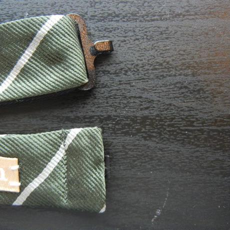 Flat Mini Butterfly Tie (Silk100%) GREEN