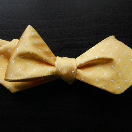 3P Silk Satin Dots Butterfly Tie (Yellow)