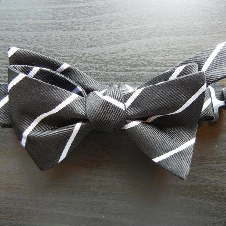 Flat Mini Butterfly Tie (Silk100%) BLACK