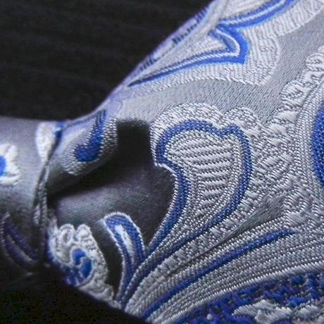 3P Silk Jacquard Paisley Butterfly Tie (Blue)