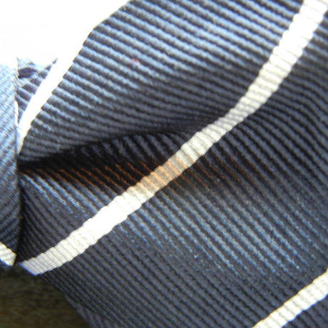 Flat Mini Butterfly Tie (Silk100%) NAVY