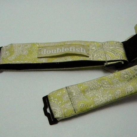3P Silk Jacquard Paisley Butterfly Tie (Yellow)